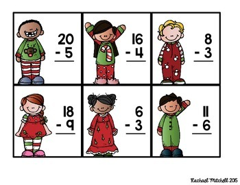 December Math Tubs- Aligned with Common Core Standards