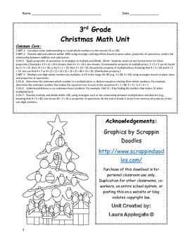 Christmas Math Unit