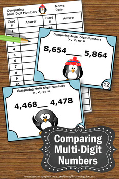 Greater Than Less Than Equal to, Winter Math Activities