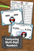 Comparing Numbers Games with a Winter Math Penguins Theme