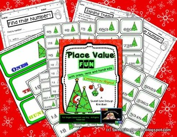 Christmas Math / Winter Place Value Print and Go Games {Sweet Line Design}