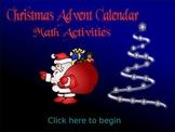 Christmas Math Activities Word Problem Advent Calendar (EDITABLE)