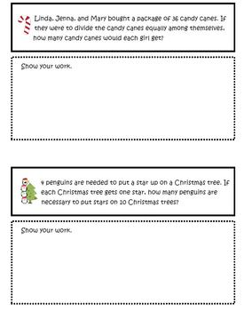 Christmas Math Word Problem Fun