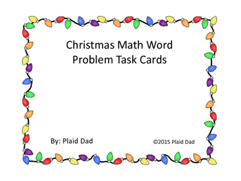 Christmas Math Word Problem Task Cards
