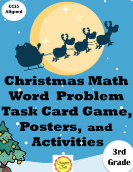 Christmas Math Word Problems for 3rd Grade:  Common Core Aligned