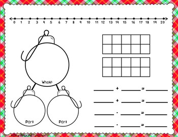 Christmas Math Work Mats for Common Core Math with Numbers 1-10 and 1-20