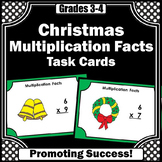 Multiplication Facts Task Cards 3rd Grade Christmas Math Centers Activities
