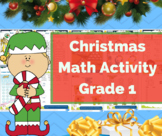 Christmas Math Worksheet Freebie- Math Center