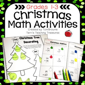 Christmas Math Activity Printables