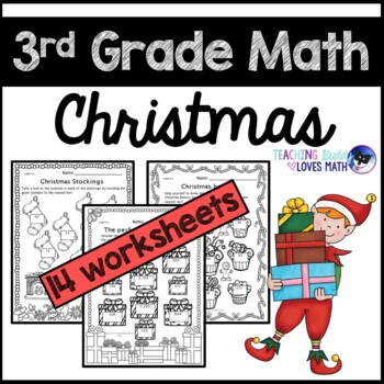 Christmas Math Worksheets 3rd Grade Common Core by Teaching Buddy ...
