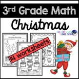 Christmas Math Worksheets 3rd Grade Common Core