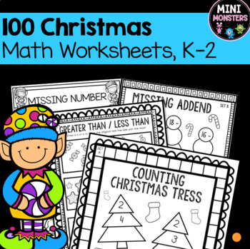 No Prep Differentiated 100 Page Christmas Worksheet Packet | TpT