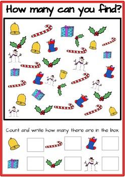 Free Christmas Math Worksheets