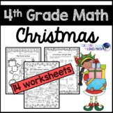 Christmas Math Worksheets 4th Grade Common Core