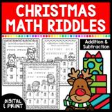 Christmas Math Worksheets | Addition & Subtraction | Print & Google Classroom