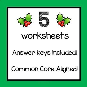 Christmas Math Worksheets Multiplication 3rd Grade 4th Grade 5th Grade