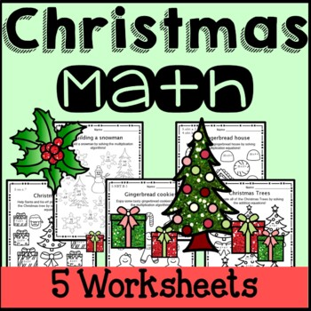 Christmas Math Worksheets 2nd Grade 3rd Grade 4th Grade 5th Grade