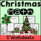 Christmas Math Worksheets 2nd Grade 3rd Grade 4th Grade 5th Grade