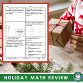 Christmas Math Activities - Daily Math Review 3rd Grade Spiral