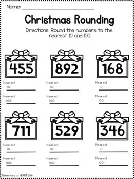 Christmas Math Worksheets (Third and Fourth Grade)