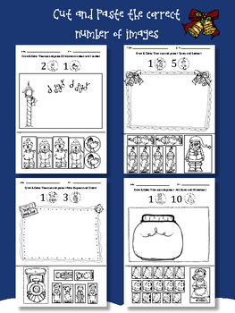 Christmas Math Worksheets and Math Word Problems - Kindergarten and First Grade
