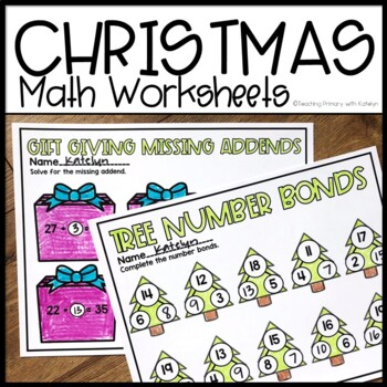 christmas math worksheets for first grade by regal firsties  tpt