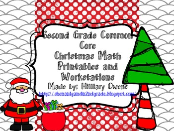 Christmas Math Workstations for Review of Place value
