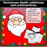 Christmas Math: additions and subtractions