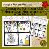 Christmas Math and Art! Multi-Digit Multiplication with Decimals