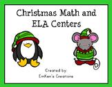 Christmas Math and ELA Centers - First Grade