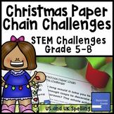 Christmas STEM Paper Chain Challenges