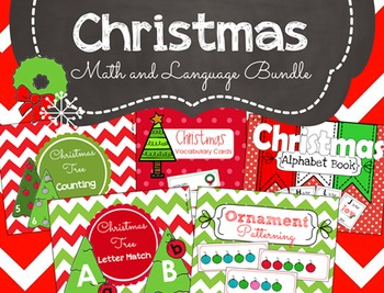 Christmas Math and Language Activity Bundle