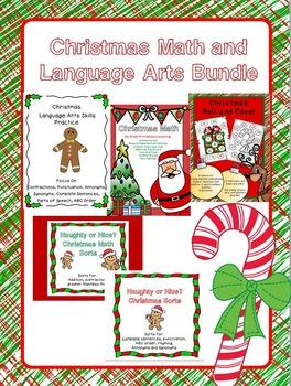 Christmas Math and Language Arts Bundle