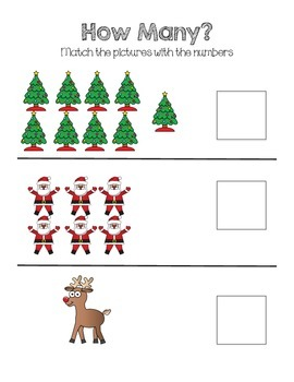 Christmas Math and Literacy Activities for Early Learners