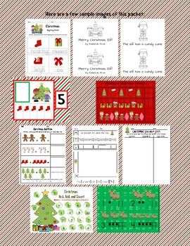 Christmas Math and Literacy Activity Pack