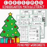 Christmas Math and Literacy BUNDLE, Christmas Activities F