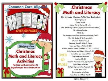 Christmas Math and Literacy BUNDLE (Includes 4 Products)