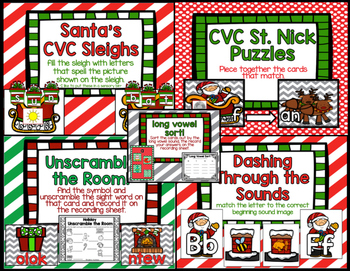 Christmas Math and Literacy Centers!