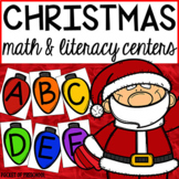 Christmas Math and Literacy Centers for Preschool, Pre-K,