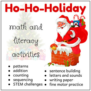 Christmas Math and Literacy Centers, December Morning Work