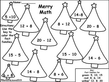 Christmas Math and Literacy FREEBIE! No-Prep