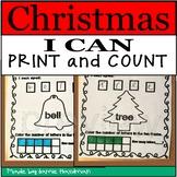Christmas I Can Print and count | Fun Christmas Math Activities