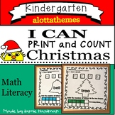 Christmas I Can Print and count | Fun Christmas Math Activities