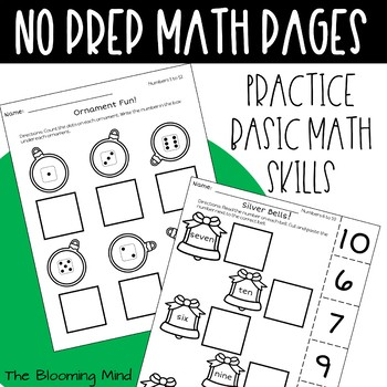 Christmas Math and Literacy {Letter Matching FREEBIE}