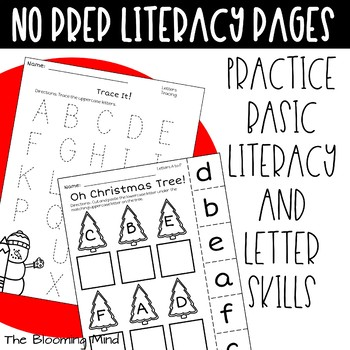 Christmas Math and Literacy {Letter Matching FREEBIE}