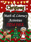 Christmas Math and Literacy Mega Pack {80+ Pages}