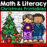 Christmas Math and Literacy No-Prep {First Grade}