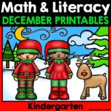 Christmas Math & Literacy Printables {Kindergarten}
