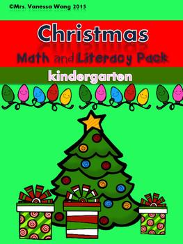 Christmas Math and Literacy No prep Kindergarten