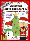 Christmas Math and Literacy (Over 60 Pages of Common Core Aligned Activities)